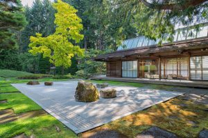 Japanese Garden at the Bloedel Reserve showcasing Bainbridge Island WA homes for sale